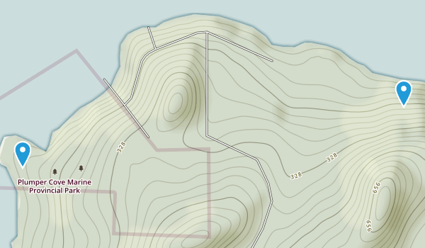 Plumpers Cove Narine Provincial Park Map
