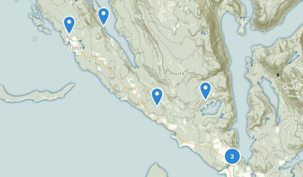Malaspina Provincial Park Map