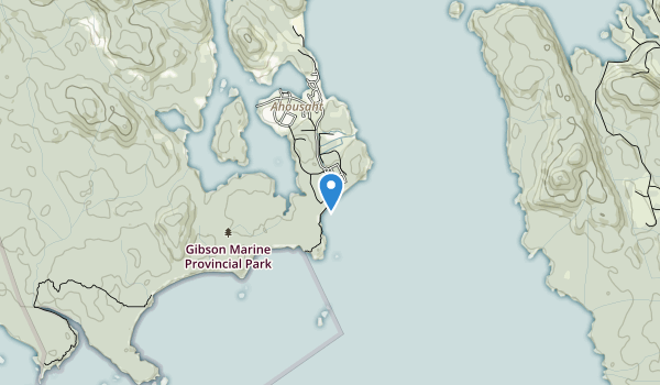 Gibson Marine Provincial Park Map