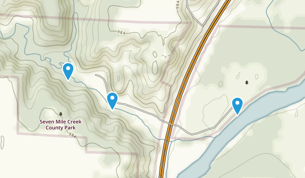 Seven Mile Creek County Park Map