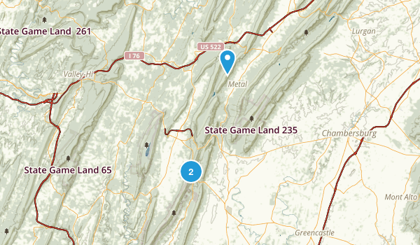State Game Lands 124 Map
