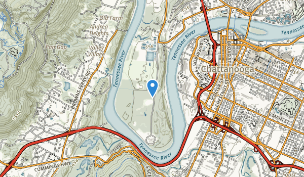 Moccasin Bend Map