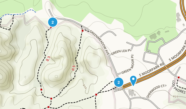 Los Robles Open Space Map