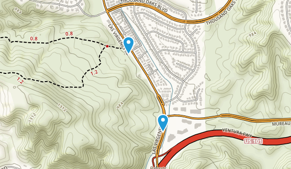 Las Virgenes Highland Park Map