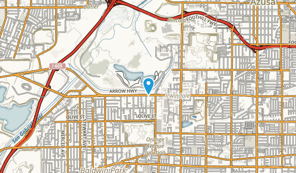 Santa Fe Dam Recreation Area Map