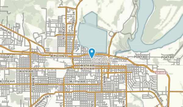 Lake Pine Bluff Park Map