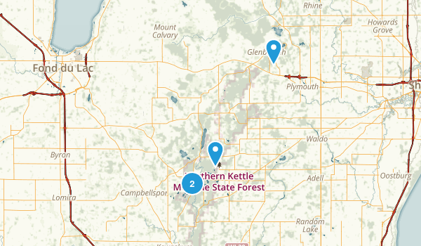 Kettle Moraine State Forest Northern Unit Map