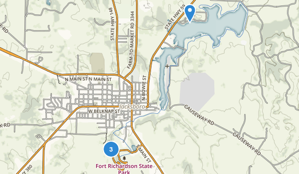 Fort Richardson State Park and Historic Site Map
