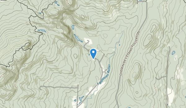 The Montagnes-Vertes Nature Reserve Map