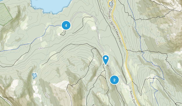 Mount Shark Trailhead Provincial Recreation Area Map