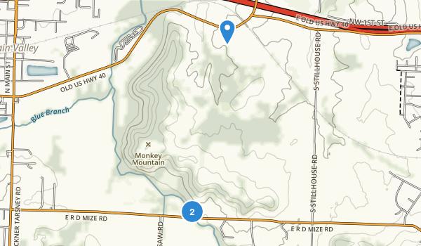 Monkey Mountain County Park Map