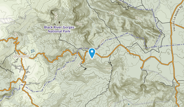 Black River Gorges National Park Map