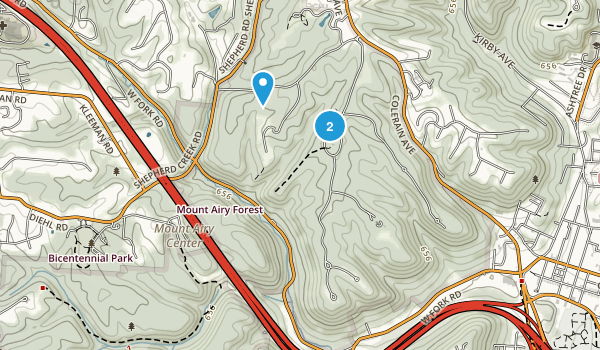 Mount Airy Forest Map
