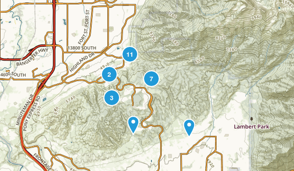 Corner Canyon Regional Park Map