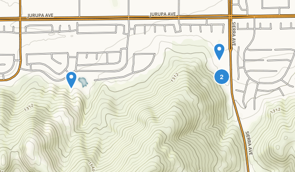 Martin Tudor-Jurupa Hills Regional Park Map
