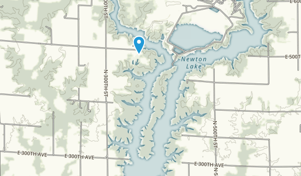 Newton Lake Conservation Area Map