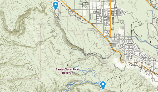 Santa Clara River Reserve Map