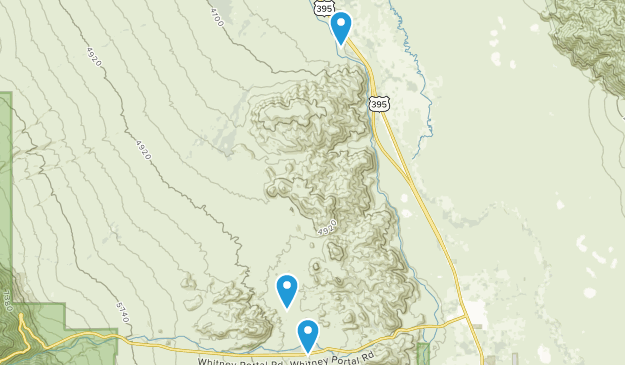 Alabama Hills Recreation Area Map