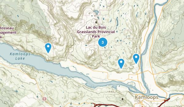 Lac Du Bois Grasslands Provincial Park Map