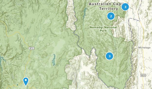 Namadgi National Park Map