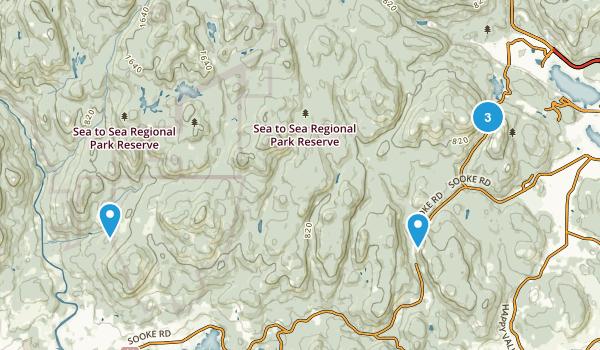 Sooke Hills Wilderness Regional Park Reserve Map