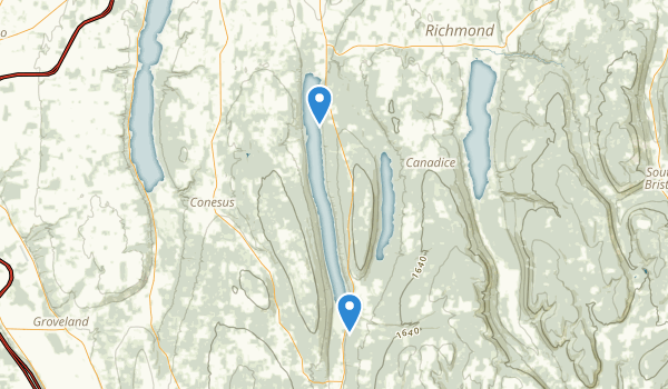 Hemlock-Canadice State Forest Map