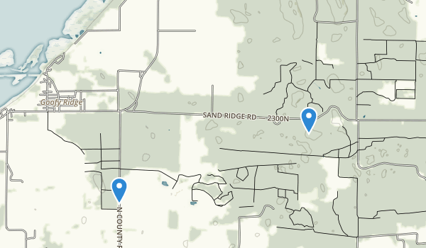 Sand Ridge State Forest Map