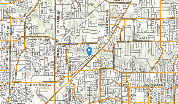 Colleyville Nature Center Map