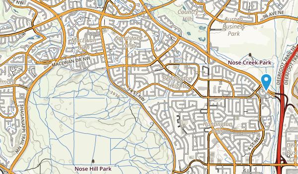 West Nose Creek Confluence Park Map