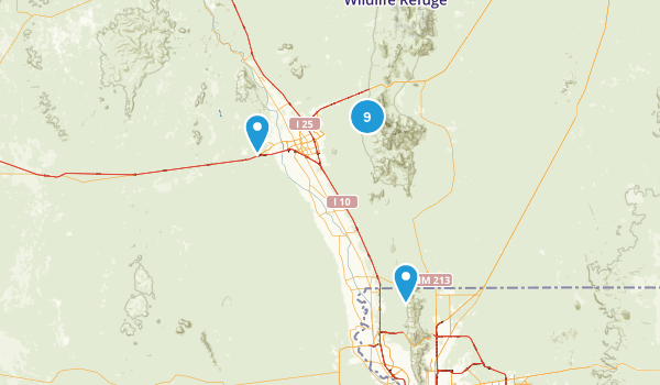 Organ Mountain - Desert Peaks National Monument Map