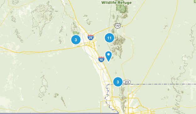 Organ Mountain - Desert Peaks National Monument Map