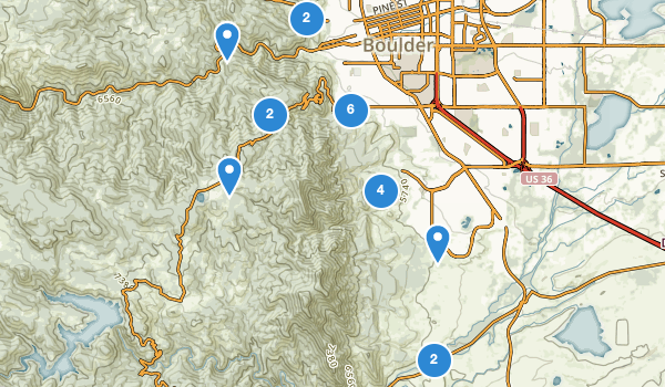 Boulder Open Space Map