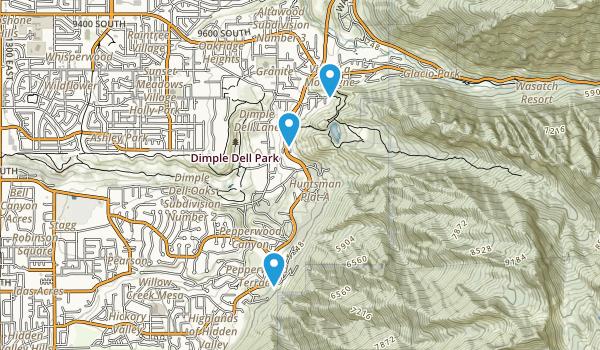 Lone Peak Wilderness Area Map