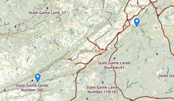 Pinchot State Forest Map