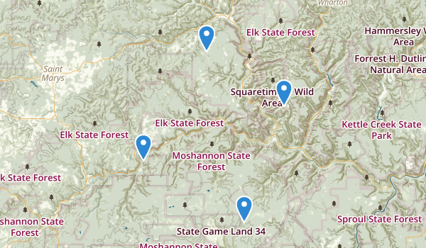 Elk State Forest Map