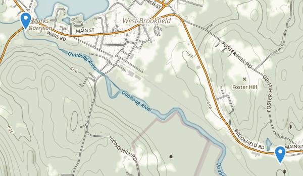 Quaboag Wildlife Management Area Map