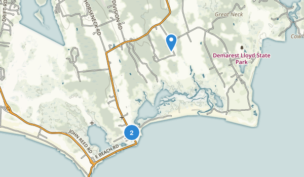 Allens Pond Wildlife Sanctuary Map