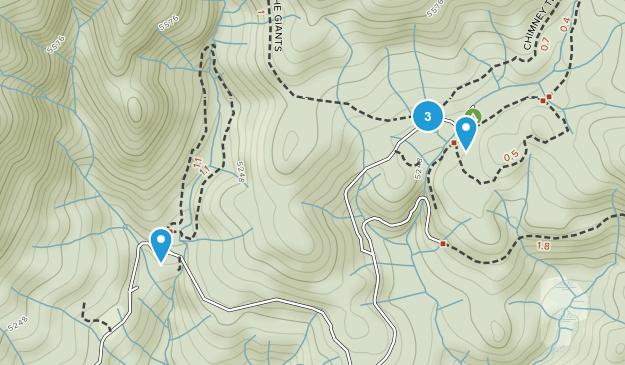 Nelder Grove Sierra National Forest Map
