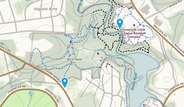 Lake Conestee Nature Park Map