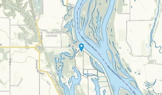 Point Louisa National Wildlife Refuge Map