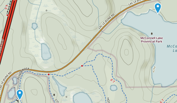 McConnell Lake Provincial Park Map