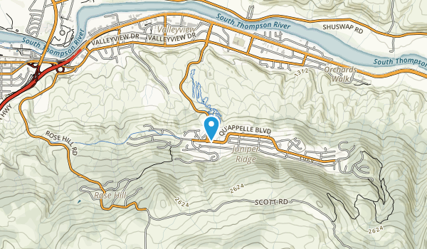 The Kamloops Bike Ranch Map
