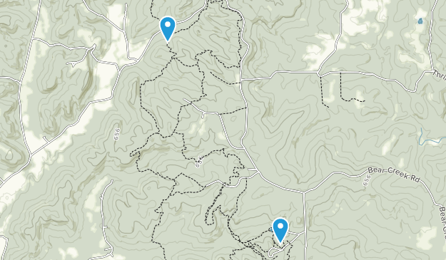 German Ridge Recreation Area Map
