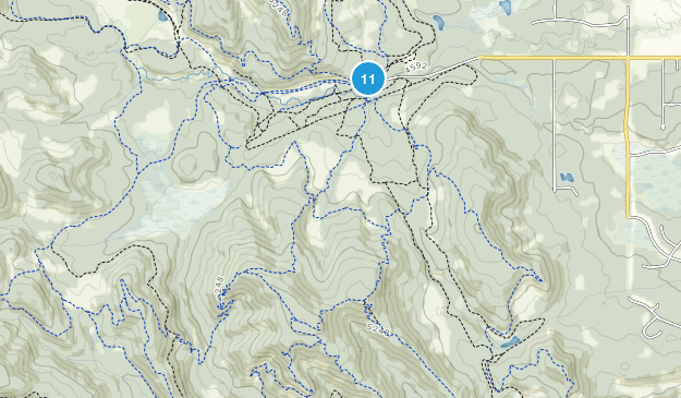 West Bragg Creek Provincial Recreation Area Map