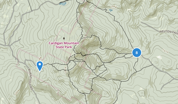Cardigan Mountain State Park Map