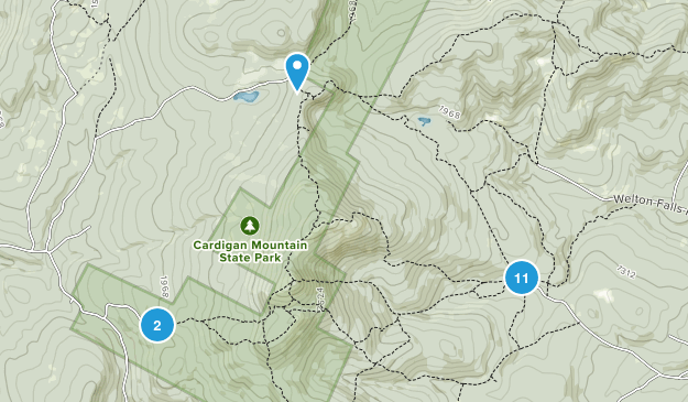 Cardigan Mountain State Park Map