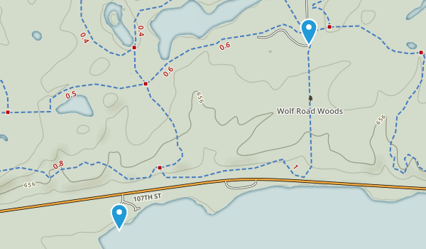 Red Gate Woods Map