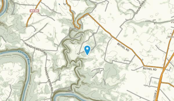 Jessamine Creek Gorge Nature Preserve Map