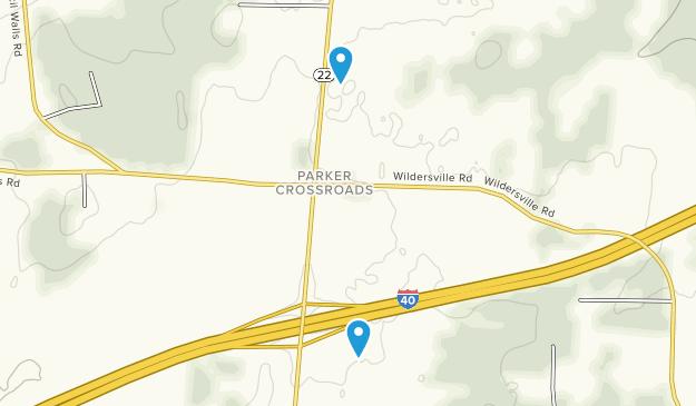 Parkers Crossroads City Park Map