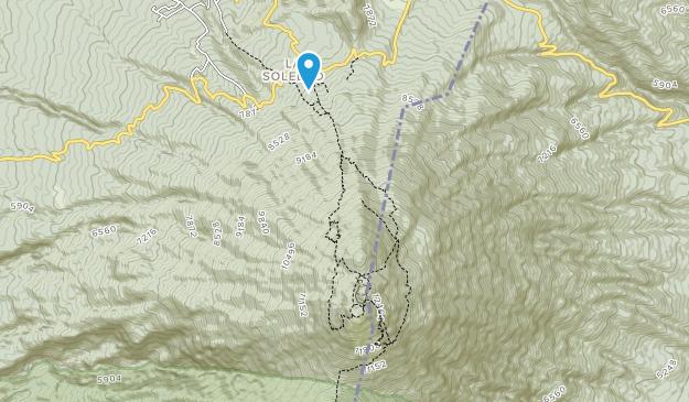 Zona de Arena Volcán Acatenango Map